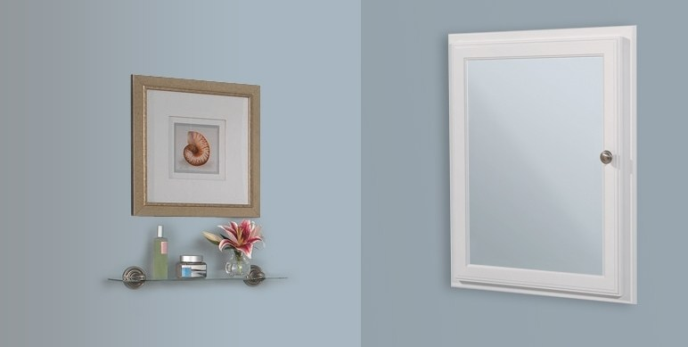Small White Recessed Medicine Cabinet