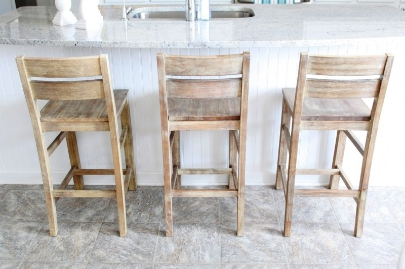 Solid Wood Bar Stools With Backs