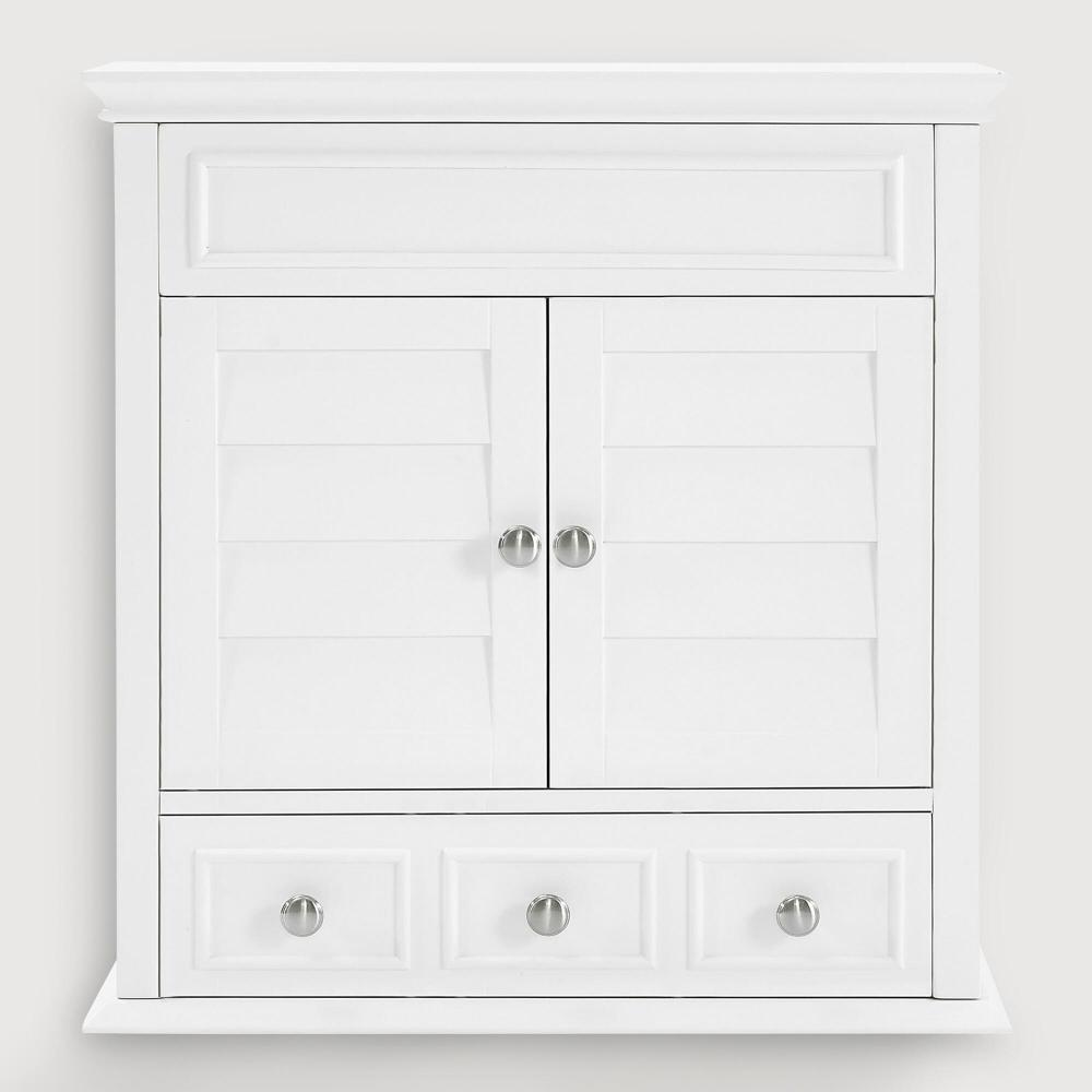 Solid Wood Medicine Cabinet White
