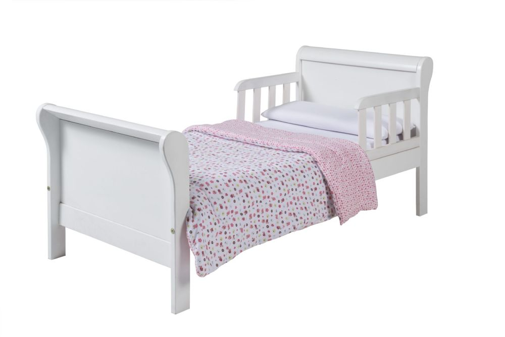 Solid Wood Toddler Sleigh Bed