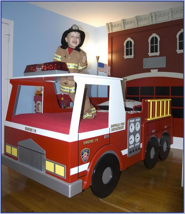 Step 2 Firetruck Toddler Bed Ebay