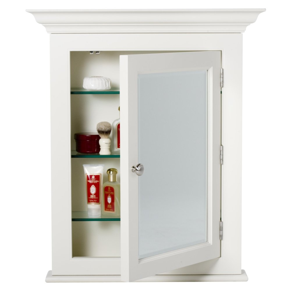 Strasser Tri View Medicine Cabinet With Three Mirror Doors And Lights