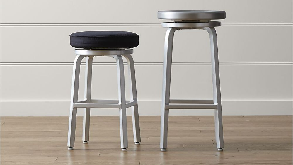 Swivel Backless Bar Stools