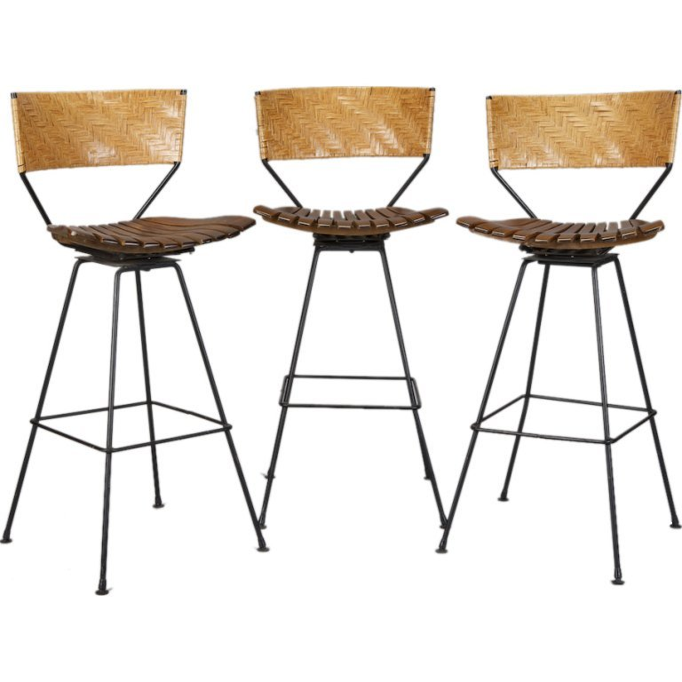 Swivel Bar Stools Set Of 3