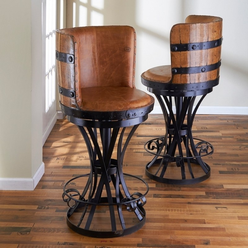 Swivel Bar Stools With Back Oak