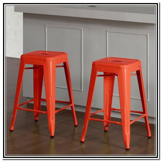 Tabouret Bar Stools Tangerine