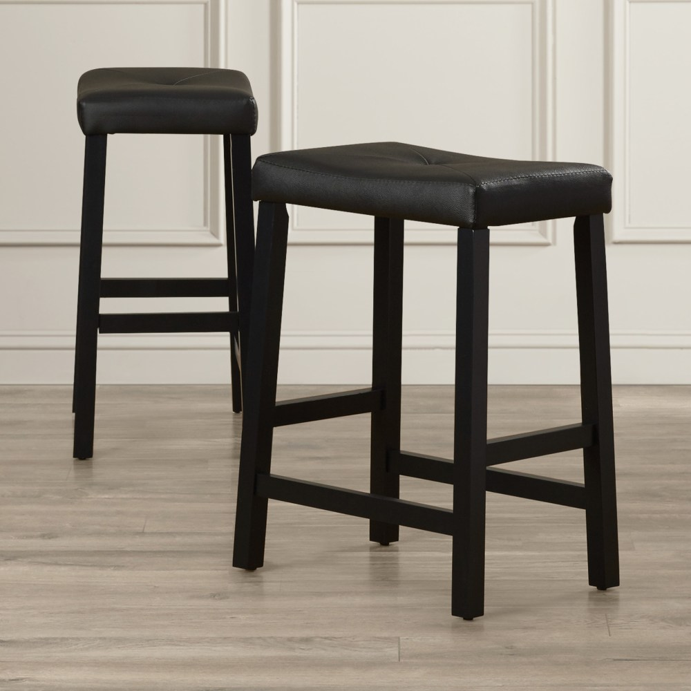 Tabouret Red Metal Bar Stools