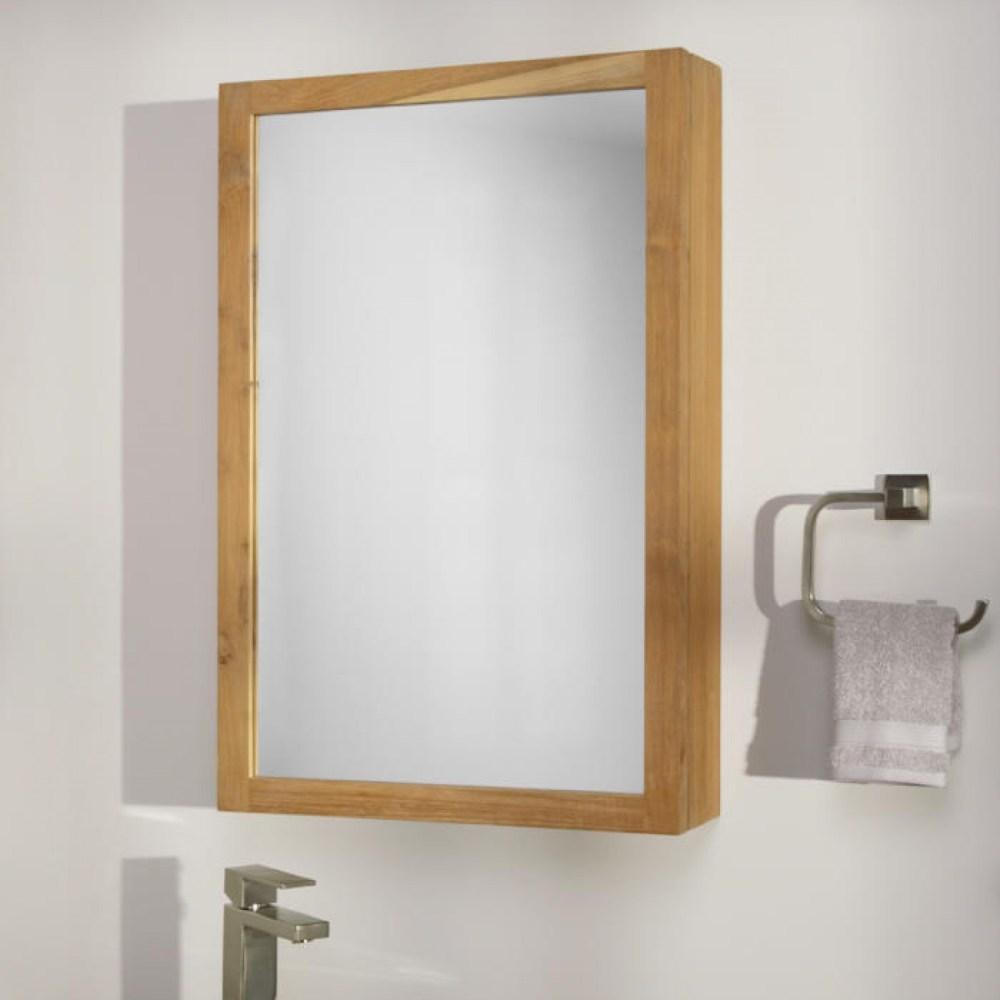 Teak Bathroom Medicine Cabinet
