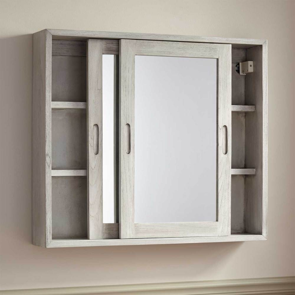 Teak Medicine Cabinet Mirror
