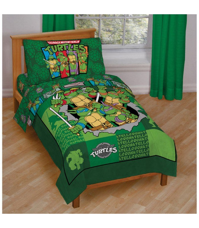 Teenage Mutant Ninja Turtles 4pc Toddler Bedding Set