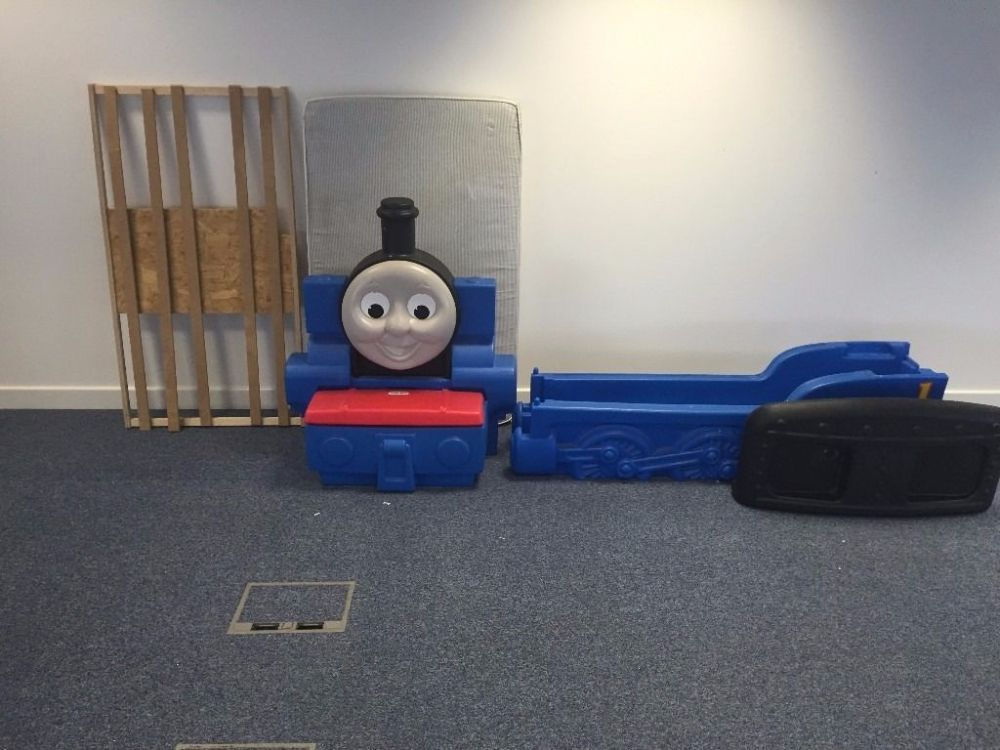 Thomas Toddler Bed With Toy Box