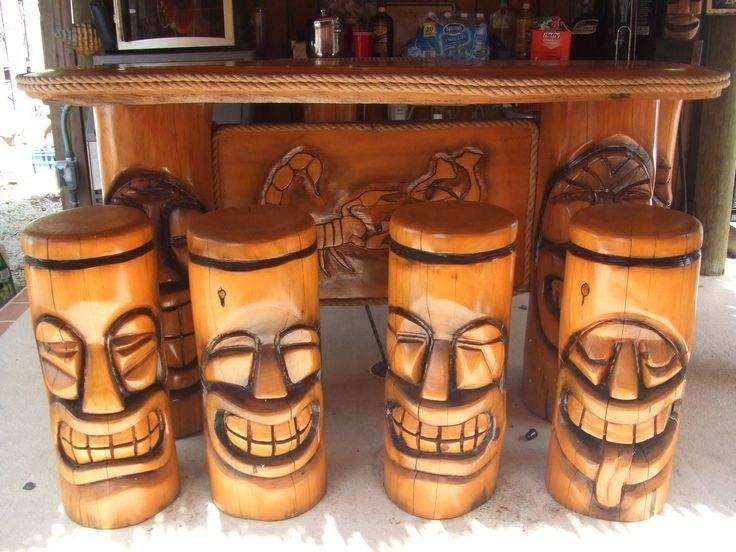 Tiki Bar Stools Ebay
