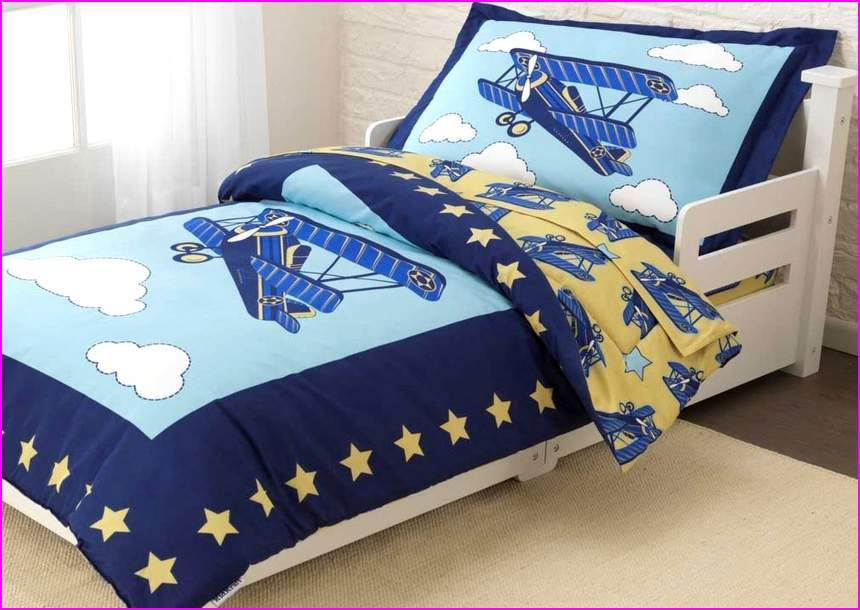 Toddler Airplane Bedding Vintage