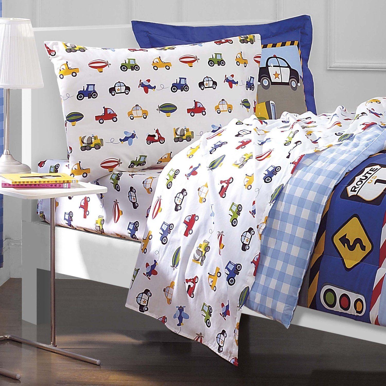 Toddler Bed Cars Sheet Set