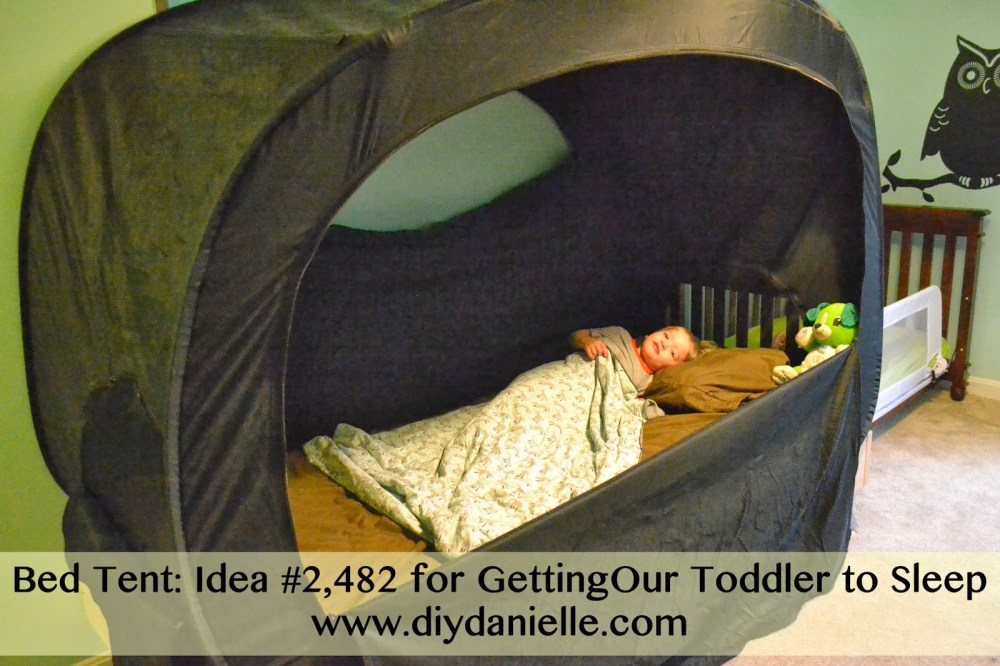 Toddler Bed Tent Diy
