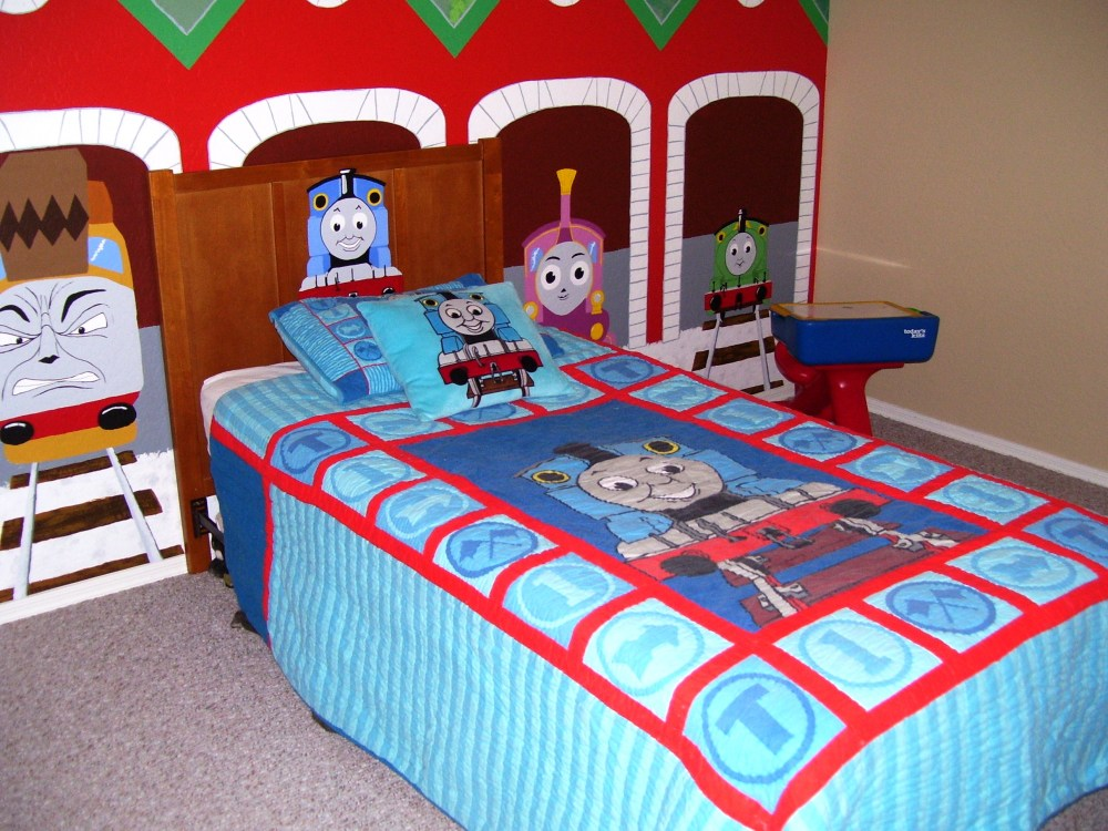 Toddler Bed Train Sheets