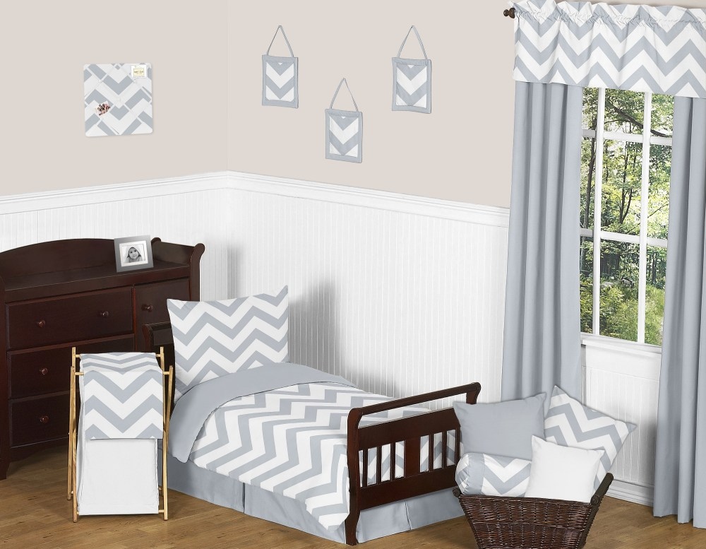 Toddler Bed White Comforter