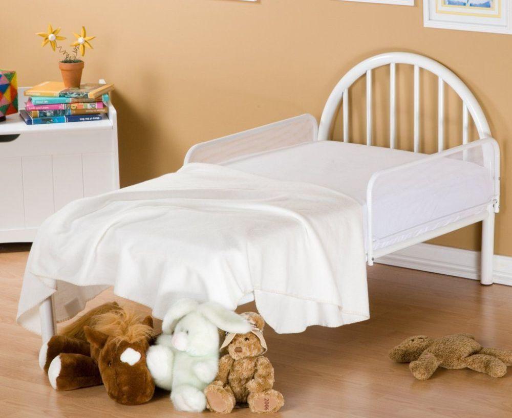 Toddler Bed White Metal