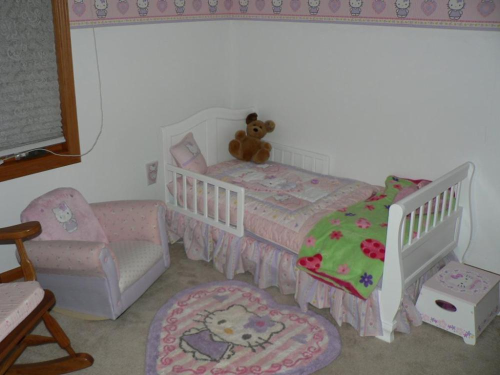 Toddler Bed White Wood