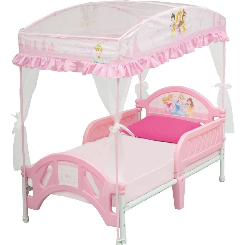 Toddler Bed With Canopy Pink