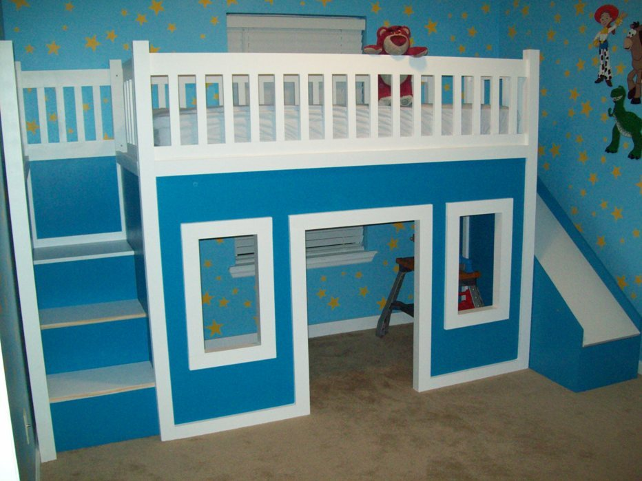 Toddler Bed With Slide Plans