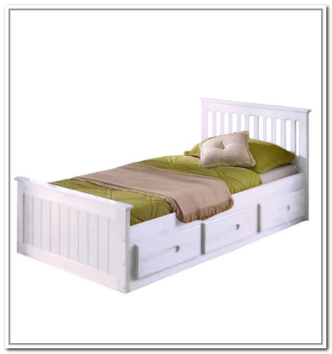 Toddler Bed With Storage White