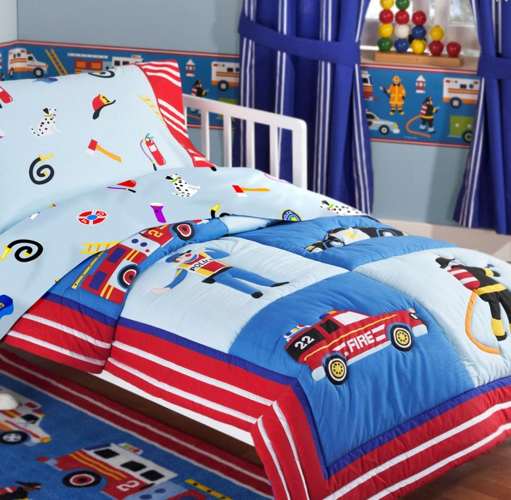Toddler Fire Truck Bedding Set