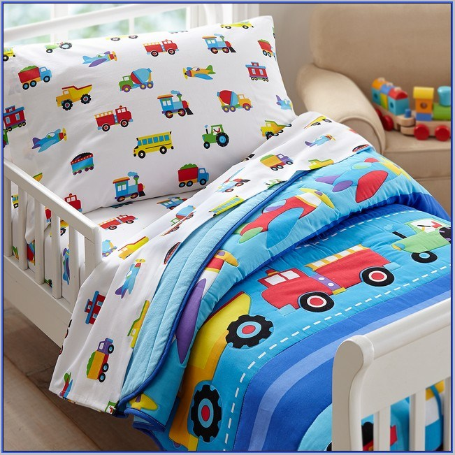 Toddler Fire Truck Bedding