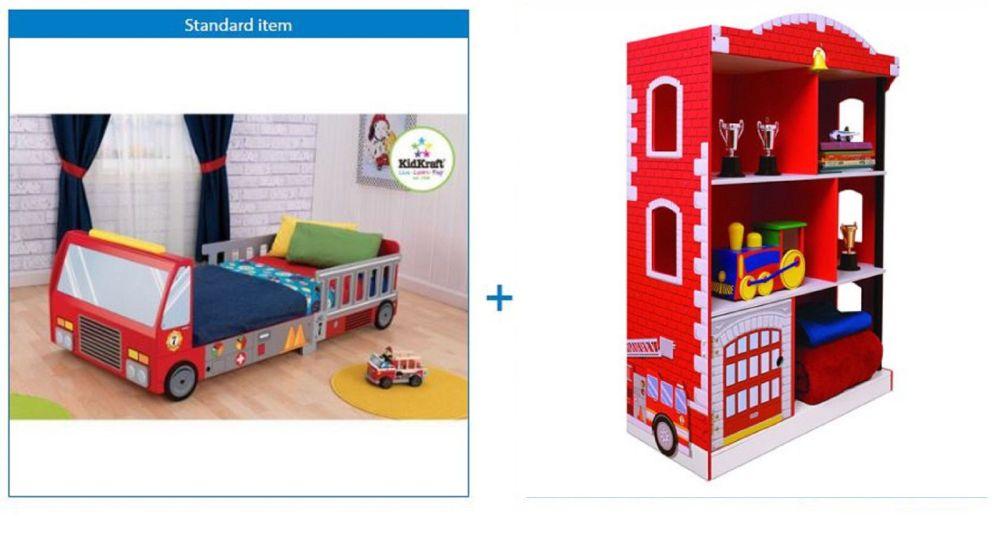 Toddler Fire Truck Bedroom Decor