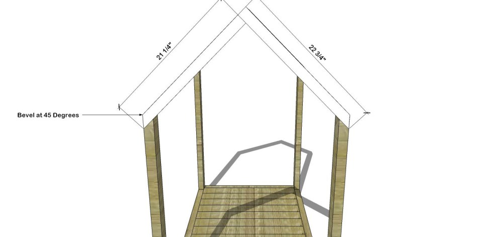 Toddler House Bed Plans