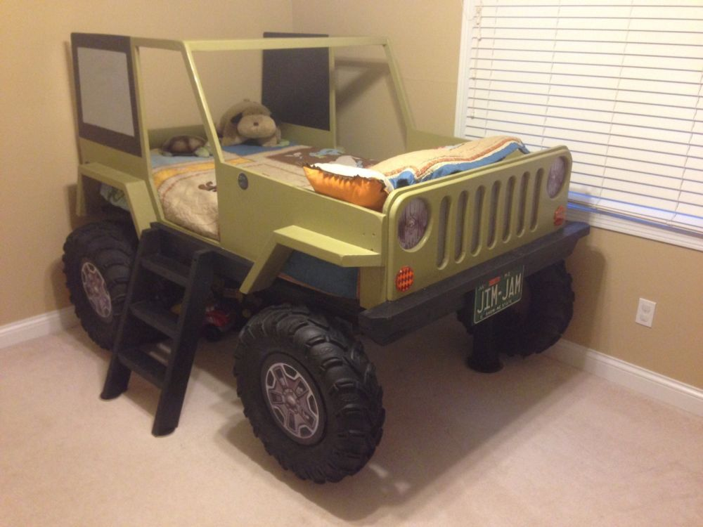 Toddler Jeep Bed Plans