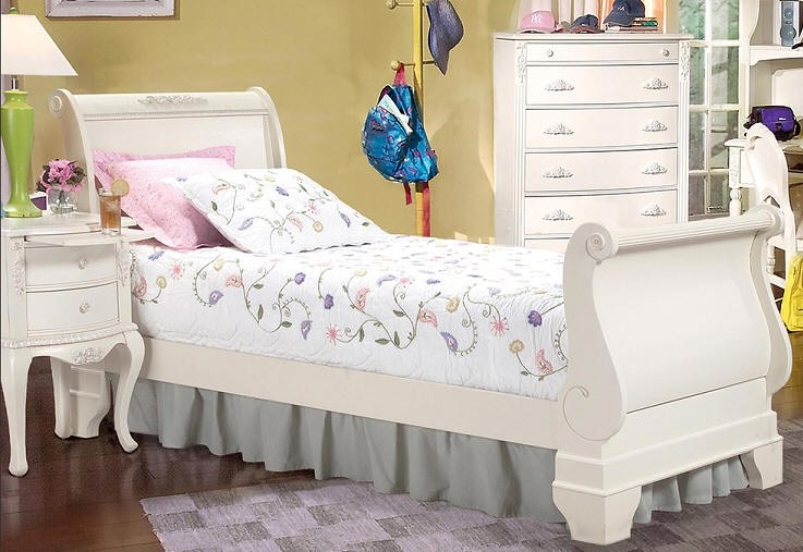 Toddler Sleigh Bed Natural