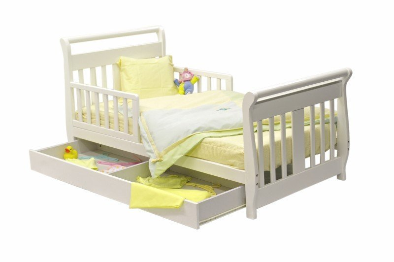 Toddler Sleigh Bed White