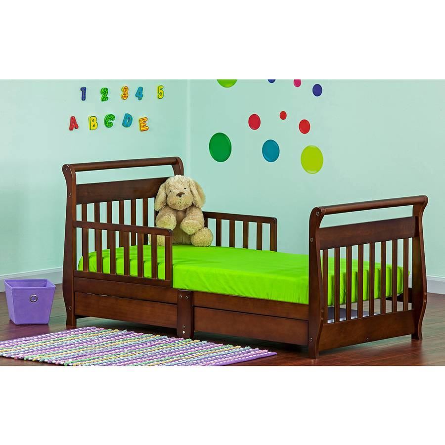Toddler Sleigh Bed With Drawer