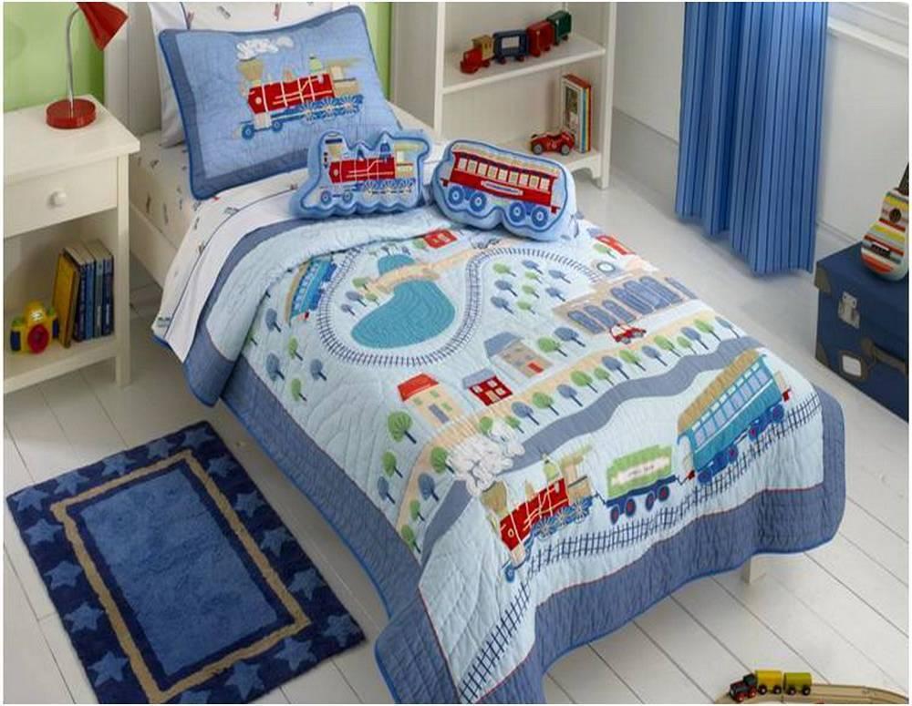 Toddler Train Bedding Set