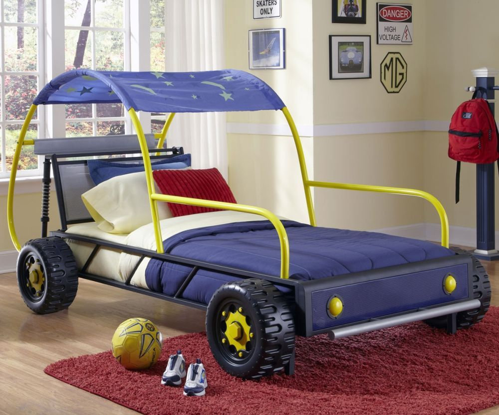 Toddler Twin Size Car Bed