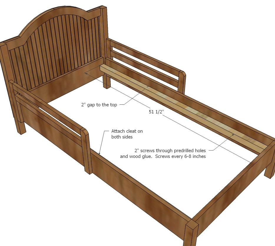 Toddler Wood Bed