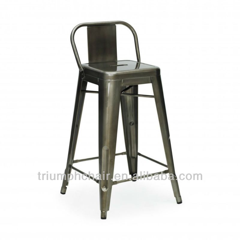 Tolix Bar Stool With Low Back