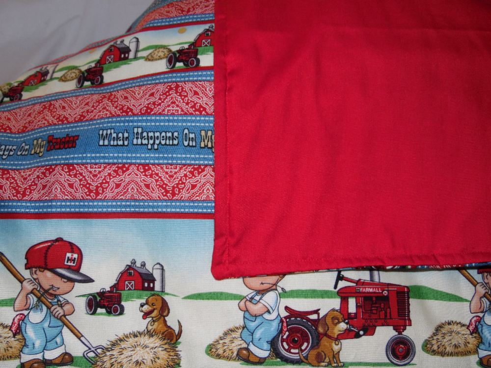 Tractor Toddler Bed Set
