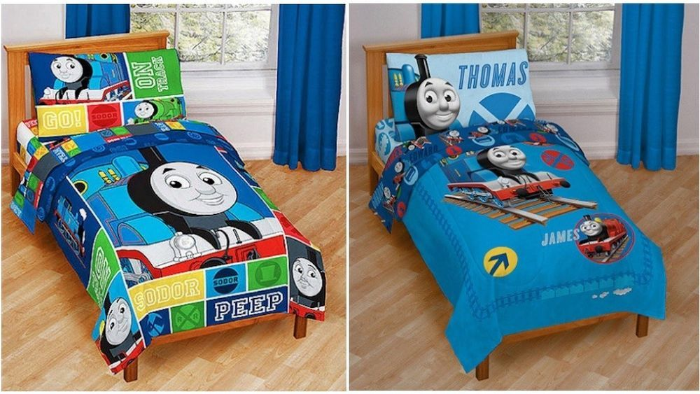 Train Toddler Bed Set