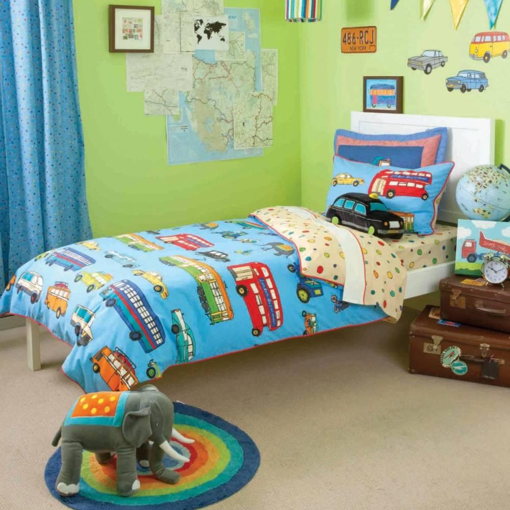 Transportation Themed Toddler Bedding
