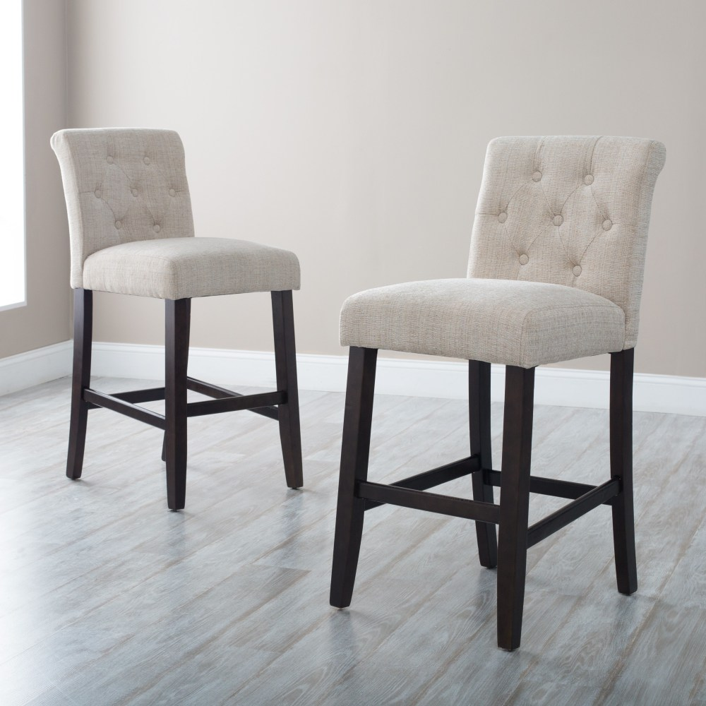 Tufted Bar Stools White