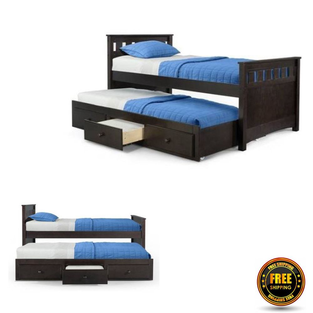 Twin Toddler Bed With Trundle