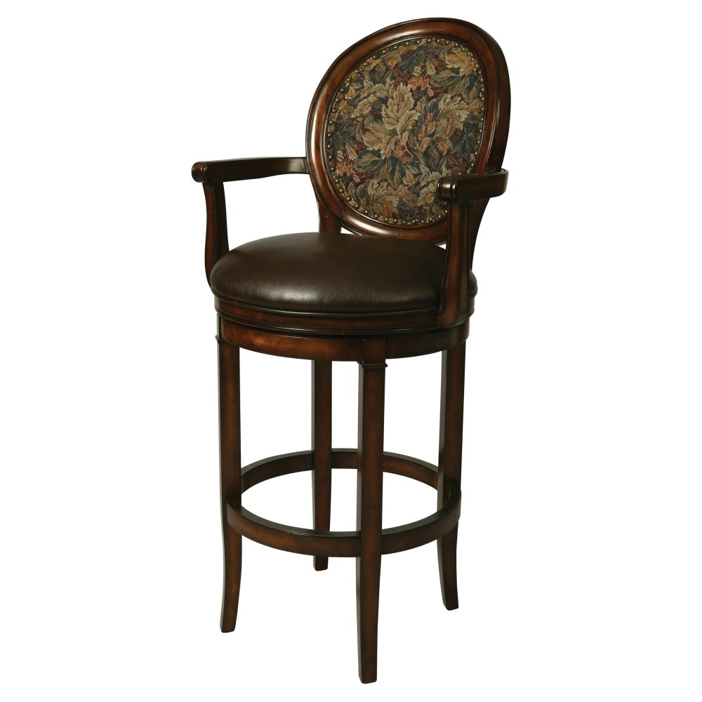 Upholstered Bar Stool With Arms