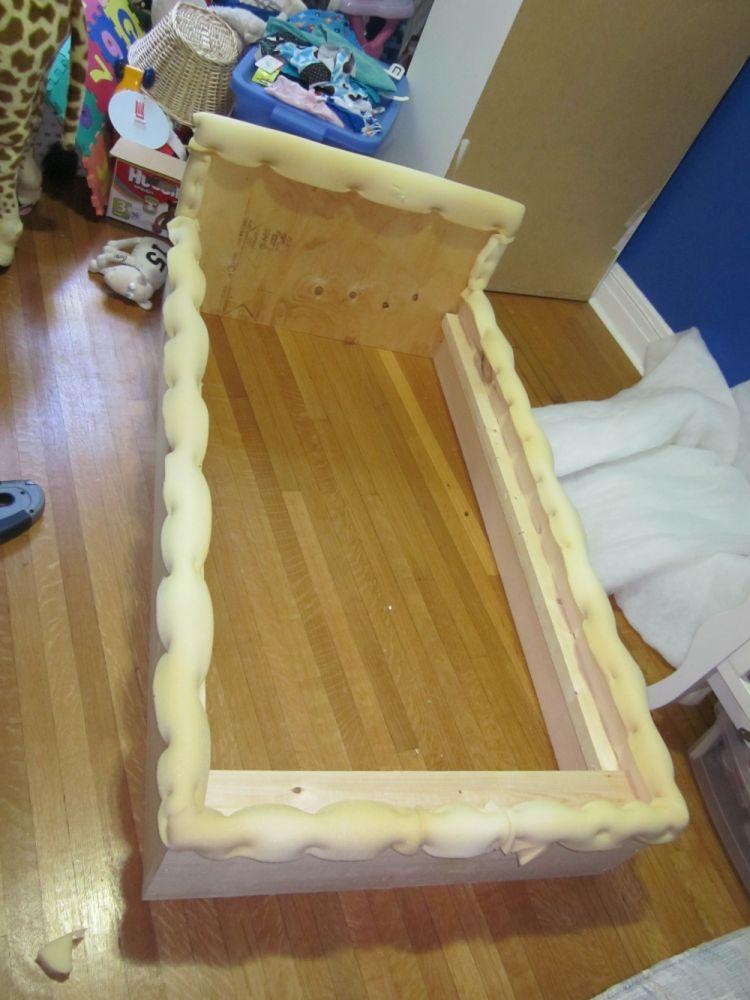 Upholstered Toddler Bed Tutorial