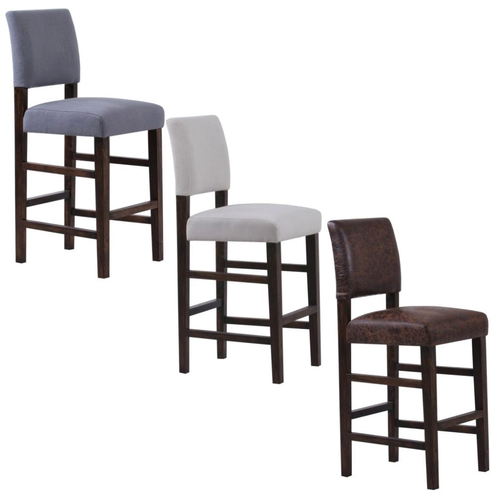 Velvet Upholstered Bar Stools