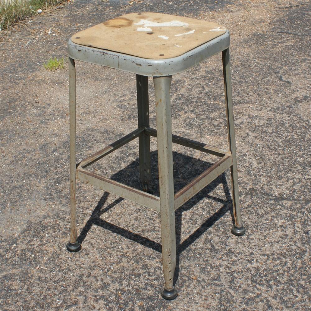 Vintage Industrial Metal Bar Stools