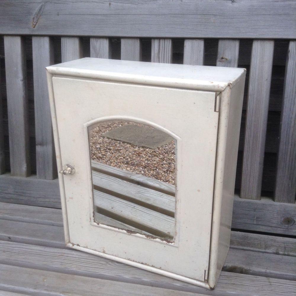 Vintage Metal Medical Cabinet Uk