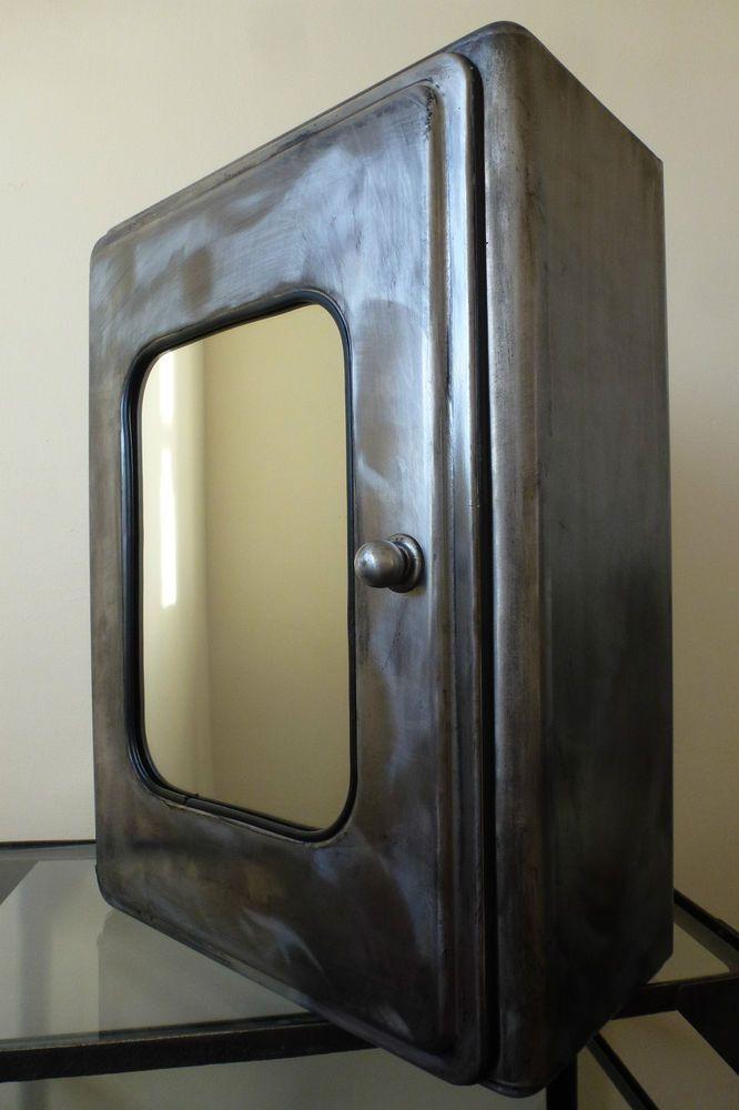 Vintage Metal Wall Medicine Cabinet