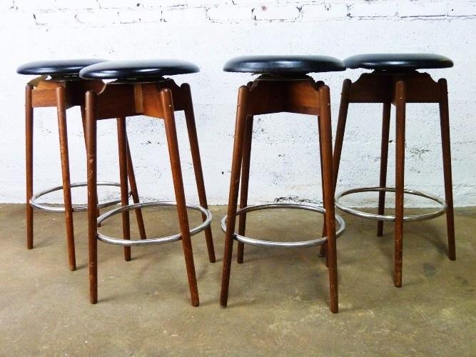 Vintage Mid Century Modern Bar Stools